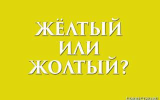Жёлтый или жолтый?