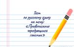 Тест на тему «Правописание чередующихся гласных»