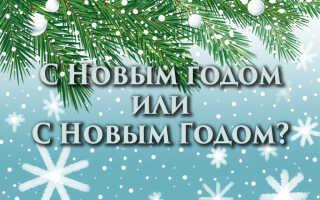 С Новым годом или с Новым Годом?