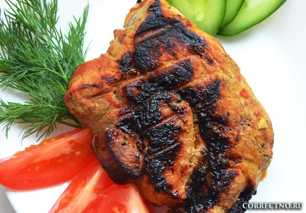 аппетитный кусок мяса
